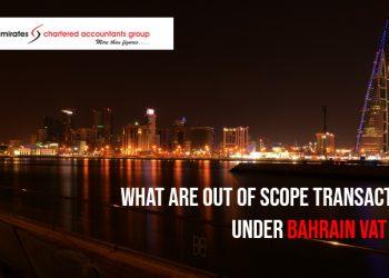 out of scope under Bahrain vat law