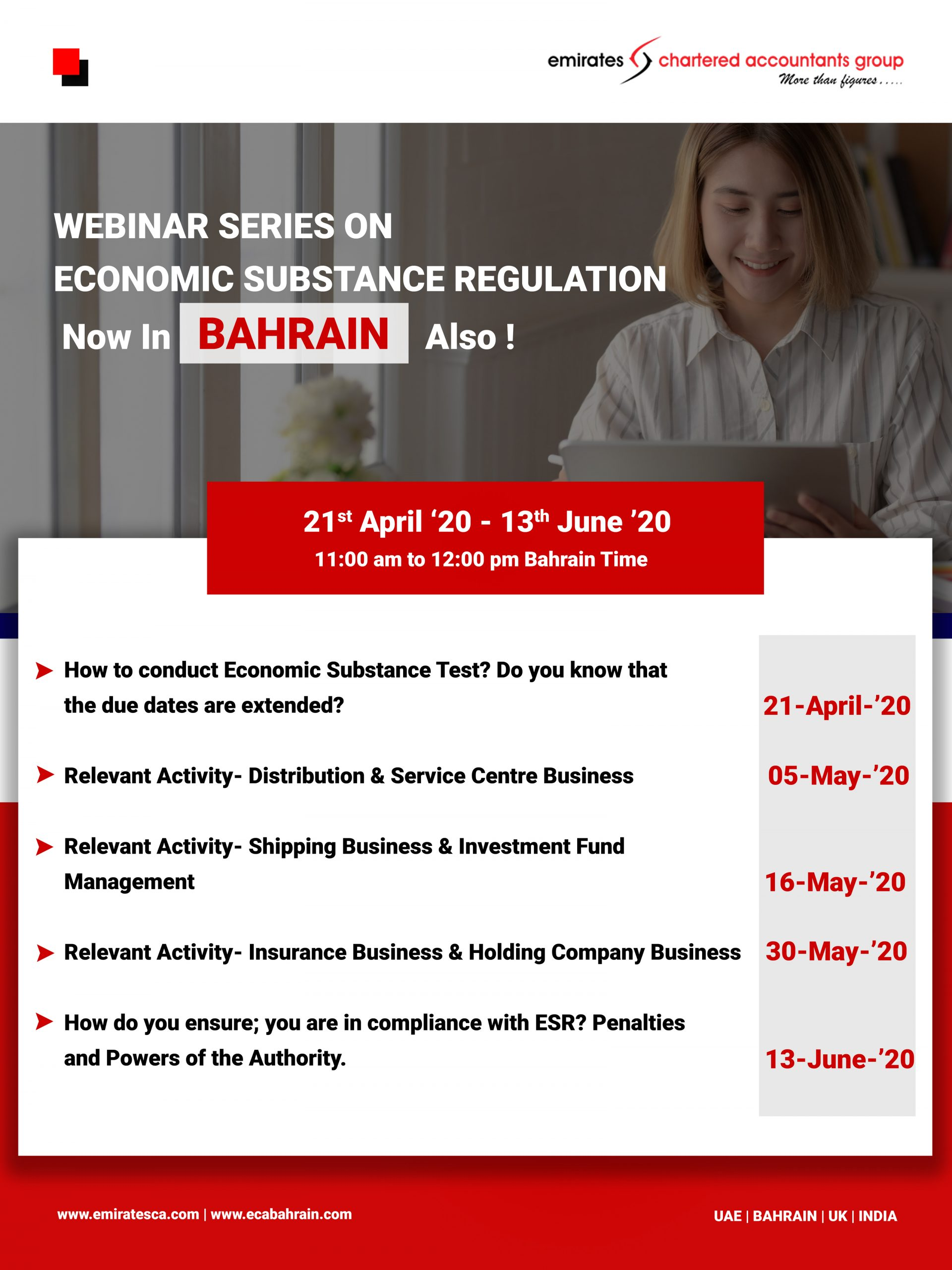 Economic substance regulation webinar bahrain