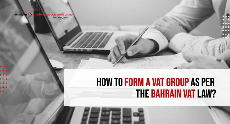 tax group as per Bahrain vat law