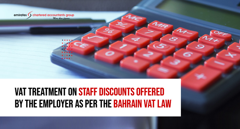 vat treatments on discounts in Bahrain