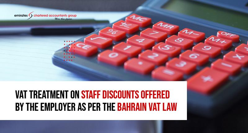 vat treatments on discounts in Bahrain